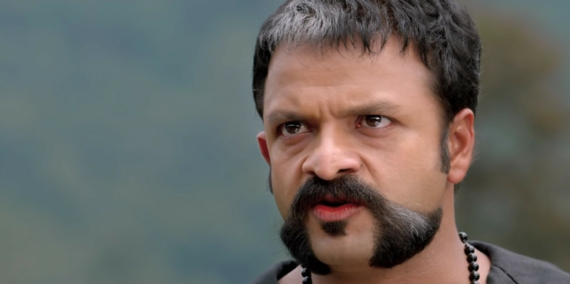 Jayasurya, the Malayalam actor, as Shaji Pappan in Aadu 2